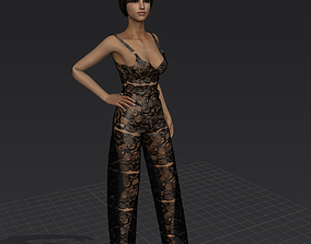 Jumpsuit girl 3D