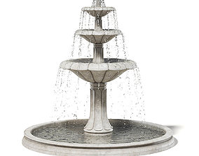garden Large Fountain 3D Model