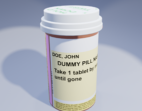 medicine medication Pill Bottle 3D