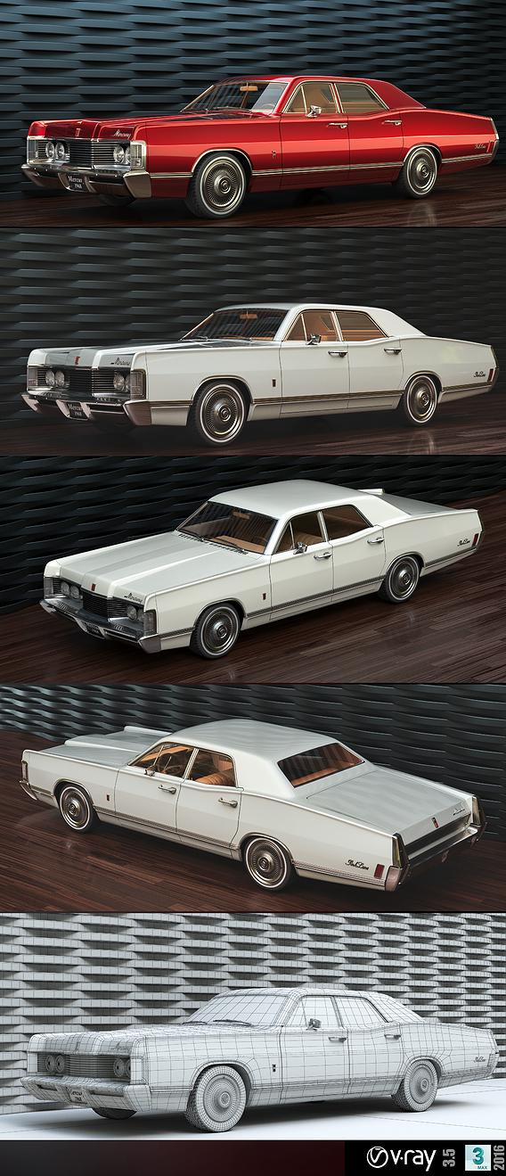 Mercury park Lane 1968 3D model