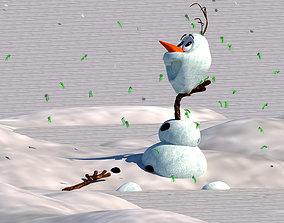 3D model game-ready Frozen