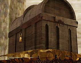 animated Treasure Hunt Box 3d Model