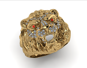 lion ring 3D print model wealth