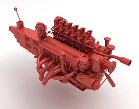 Ferrari Colombo V12 Engine - 3 3D printable model