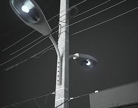 exterior street-light 3D model Column