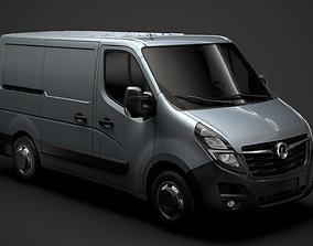 3D model Vauxhall Movano L1H1 Van 2020