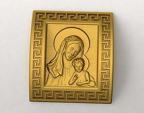 3D printable model Virgin Mary Pendant