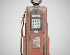 Gas Pump - Texaco 60s Dirty 3D asset