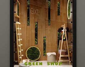 3D PBR Green Shop Window
