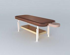 3D model stationary massage table