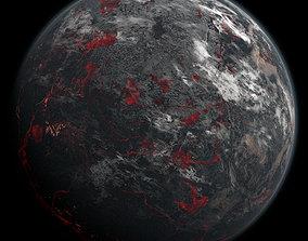 3D Volcanic Planet 04