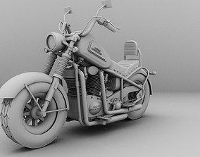 Harley-davidson motor bike 3D