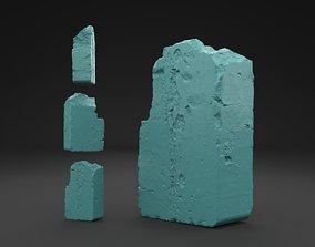 Scanned Broken Red Ceramic Brick 3D Print Model