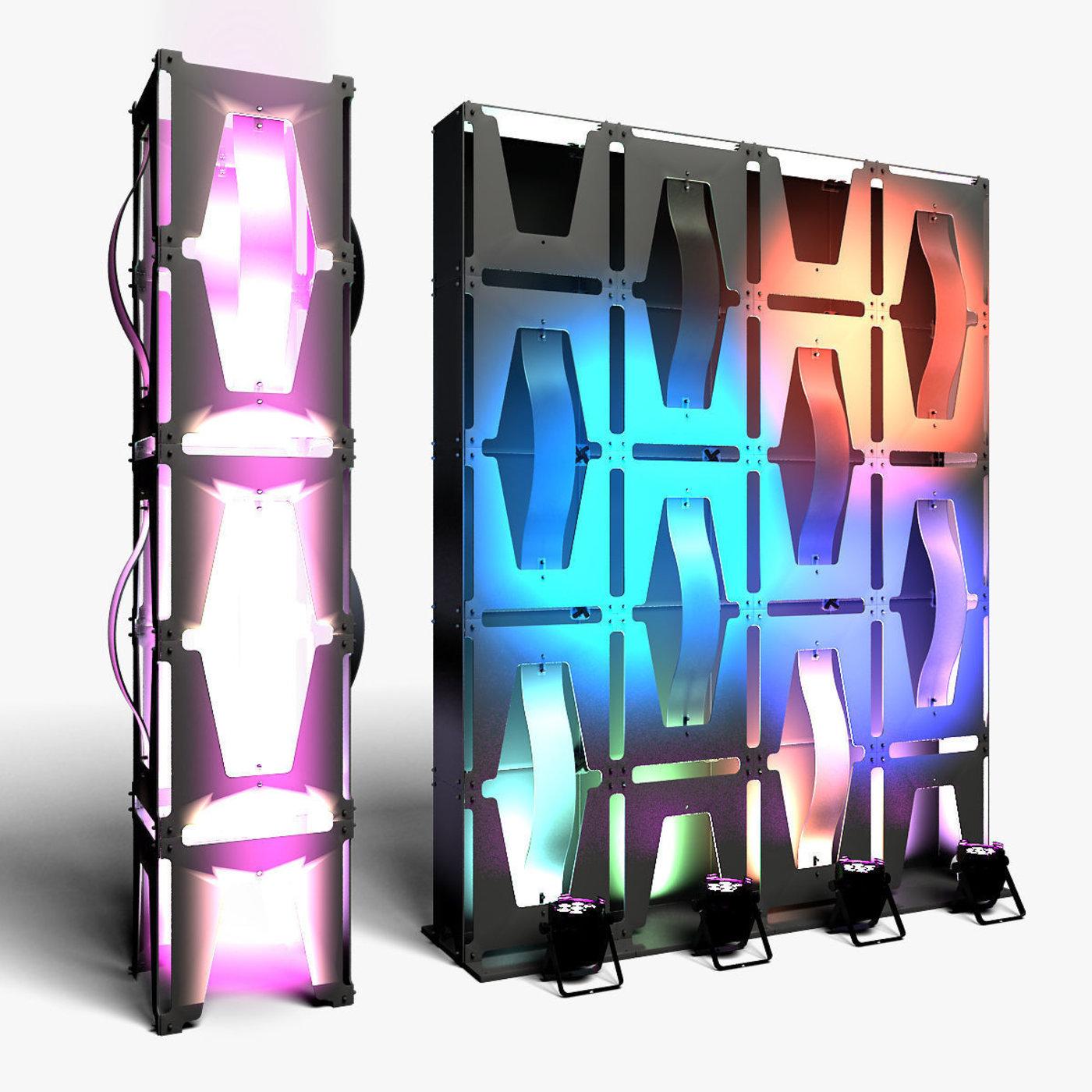 Stage Decor Collection  Modular 36 Pieces Wall Column