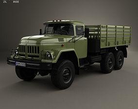 ZIL 131 Flatbed Truck 1966 3D model