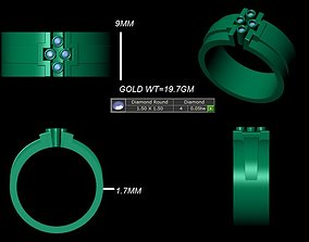 diomand ring 3d model jewelry