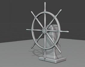 sailboat rudder wheel 3D