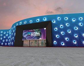 Facade Peacock Theme Base 3D Model Greater Noida Expo