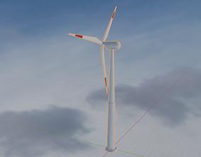 rigged High Quality Eletric Wind Turbine 3D Model