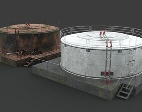 3D model Oil Gaz Water tank