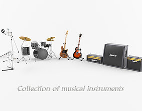Collection of Musical Instruments 3D