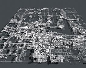 3D model Cityscape Las Vegas Nevada USA