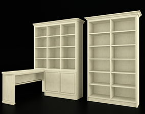 Bookcase with table bookcase 3D model