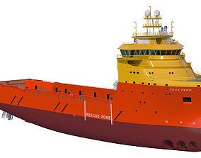 3D 92 m Platform Supply Vessel Edda Ferd merchant