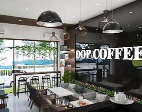 caffee design 3d model animated