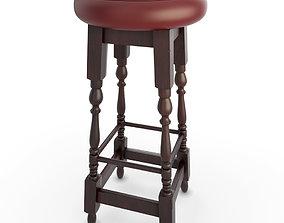 Wooden Bar Stool Pub 3D model