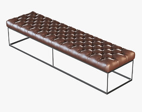 Brown leather banquette eich 0432 3D
