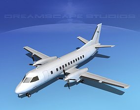 3D model SAAB 340 Bare Metal
