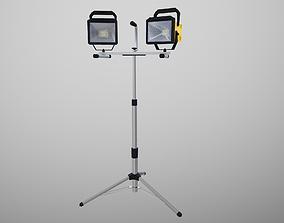 3D model Tripod LED Worklight PBR