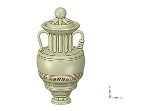 An amphora vessel vase 3D print model