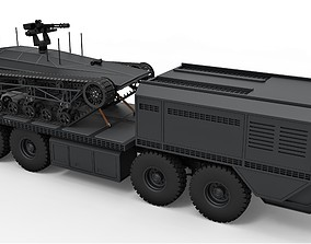 3D model Military truck with Ripsaw MS1 UGV