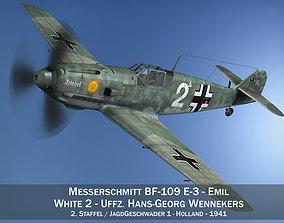 Messerschmitt - BF-109 E - White 2 3D