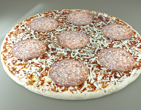 Pizza 3D Model lunch