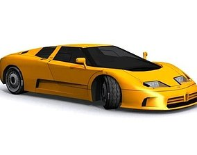 Bugatti EB 110 3D model