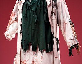 Freaky Doctor Horror Costume 3D asset