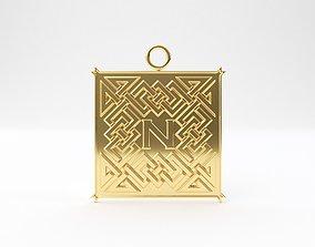 3D print model Celtic pendant letter N