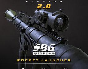 SBG Rocket Launcher 3D model game-ready