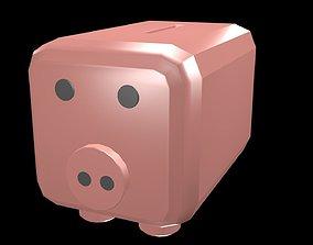 3D asset Low poly money box