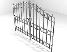 3D model Steel Door Gate Type 1