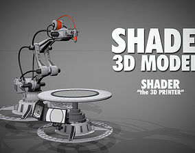 Shader the 3D printer animated