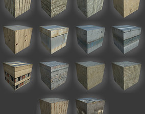 Pack of 14 Various Concrete Seamless 3D model