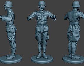 German musician soldier ww2 Stand band boss 3D print model