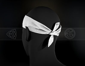 White Bandana 3D model