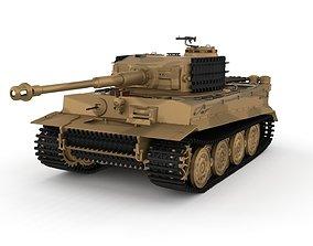 3D model Panzer Tiger Tank Late 1944 v1