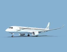 Airbus A220-300 Corporate 3 3D