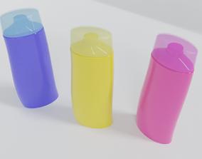 Curved shampoo bottle 3D printable model